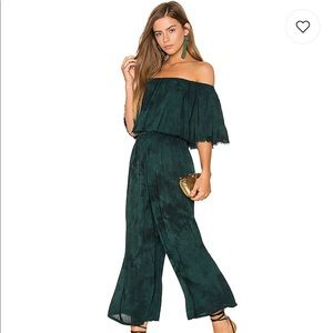 Blue Life Pandora Ruffle Jumpsuit In Emerald Coast